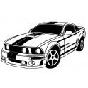 Naklejka muscle car