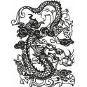 Naklejka chiński smok nr 738
