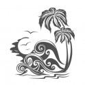 Naklejka morze i palmy