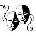Naklejka maski teatralne nr 764