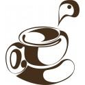 Naklejka filiżanka kawy nr 777