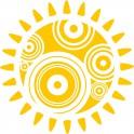 Naklejka abstrakcja słońce nr 794