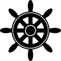 Naklejka koło sterowe nr 851