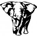 Naklejka słoń nr 868