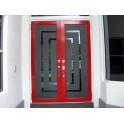 Naklejki na szklane drzwi i szyby w drzwiach - przykłady