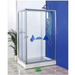 Naklejki na kabiny prysznicowe - przykłady