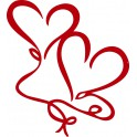 Naklejka serce nr 979