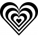 Naklejka serce zebra nr 981