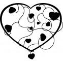 Naklejka serce nr 982