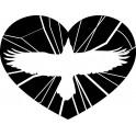 Naklejka serce nr 983