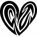 Naklejka serce nr 984