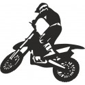 Naklejka Motocross nr 1014