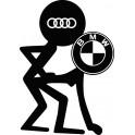 Naklejka Audi BMW nr 1041