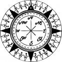 Naklejka kompas nr 1045