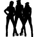 Naklejka trzy dziewczyny nr 1088