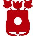 Naklejka ramka tulipany nr 1131