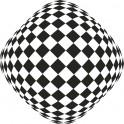 Naklejka kwadraty iluzja nr 1148