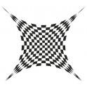 Naklejka kwadraty iluzja nr 1149