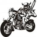 Naklejka motocykl nr 1175