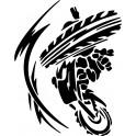 Naklejka Motocross nr 1183