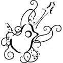 Naklejka  gitara nr 1253