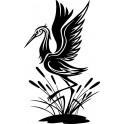 Naklejka żuraw nr 1279