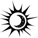 Naklejka abstrakcja słońce księżyc nr 1294