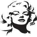 Naklejka portret Marilyn Monroe nr 1311