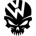 Naklejka Volkswagen czaszka nr 1345