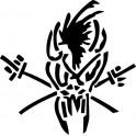 Naklejka Metallica czaszka