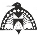 Naklejka indiański symbol ptaka