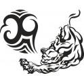 Naklejka tribal tygrys