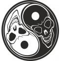 Naklejka Yin i Yang czaszki