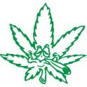 Naklejka liść konopi