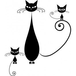 Naklejka zabawny kot