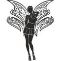 Naklejka sylwetka dziewczyny anioła nr 591