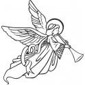 Naklejka Anioł nr 605