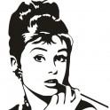 Naklejka portret Audrey Hepburn nr 661