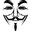 Naklejka anonymous nr 666
