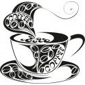 Naklejka filiżanka kawy nr 700